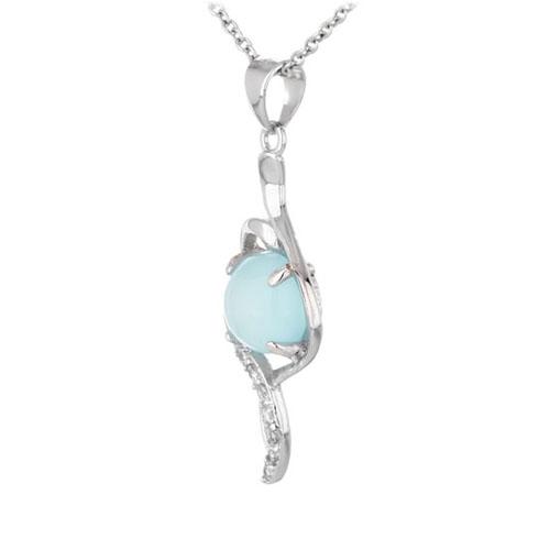 pendentif femme argent zirconium diamant 8300343 pic2