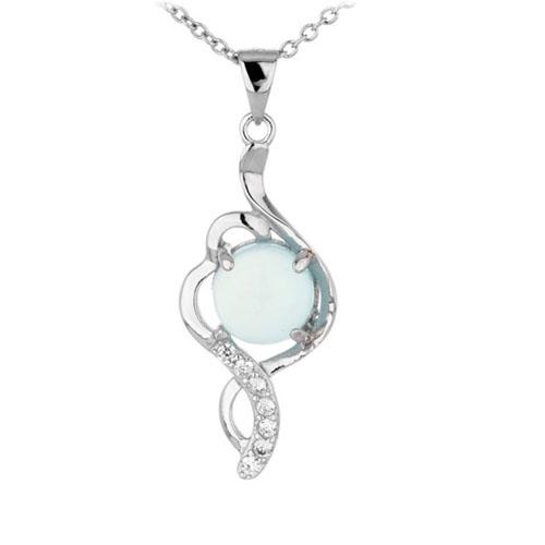 pendentif femme argent zirconium diamant 8300343