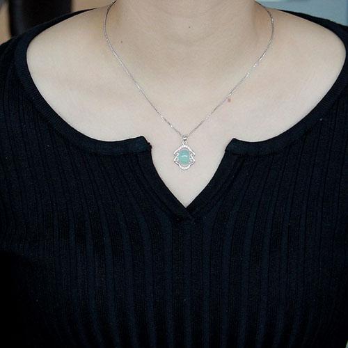 pendentif femme argent zirconium diamant 8300344 pic4