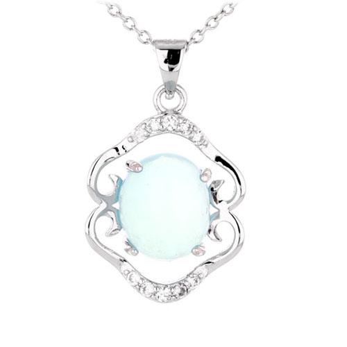 pendentif femme argent zirconium diamant 8300344