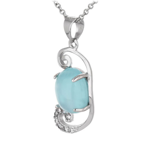 pendentif femme argent zirconium diamant 8300345 pic2