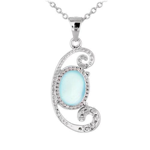 pendentif femme argent zirconium diamant 8300345 pic3