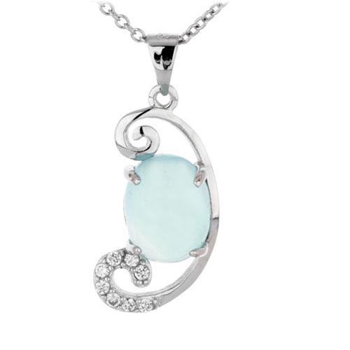 pendentif femme argent zirconium diamant 8300345