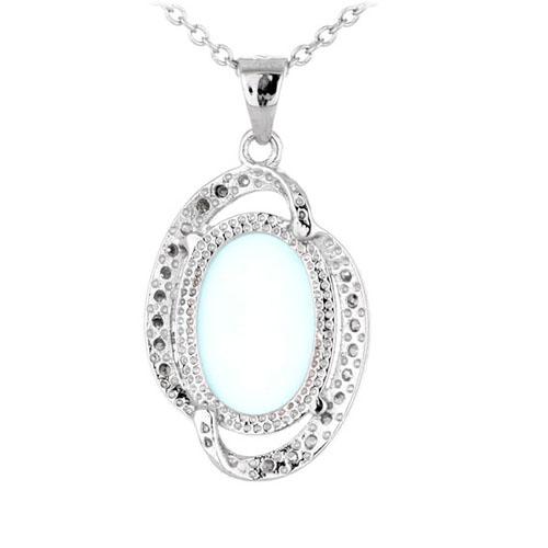 pendentif femme argent zirconium diamant 8300346 pic3
