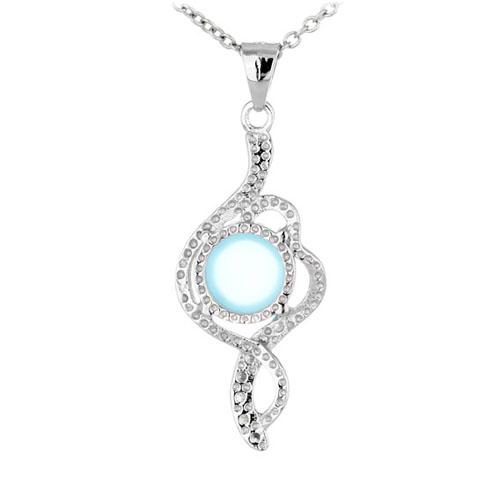 pendentif femme argent zirconium diamant 8300347 pic3