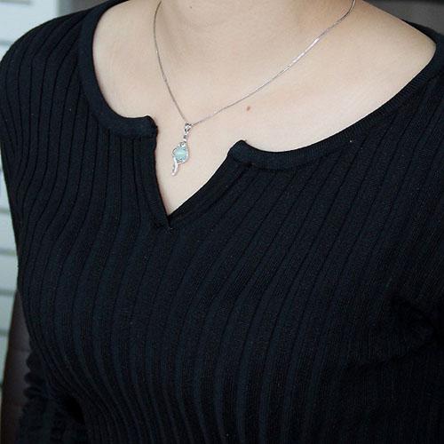 pendentif femme argent zirconium diamant 8300347 pic4