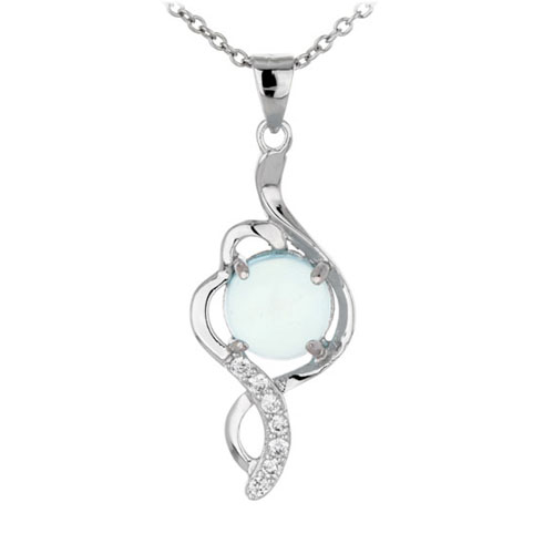 pendentif femme argent zirconium diamant 8300347