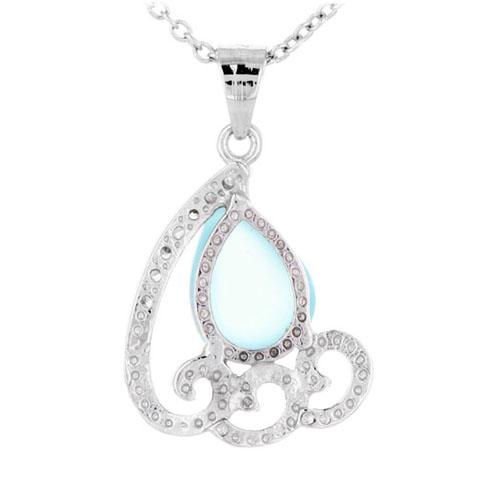 pendentif femme argent zirconium diamant 8300348 pic3