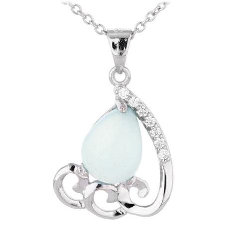 pendentif femme argent zirconium diamant 8300348