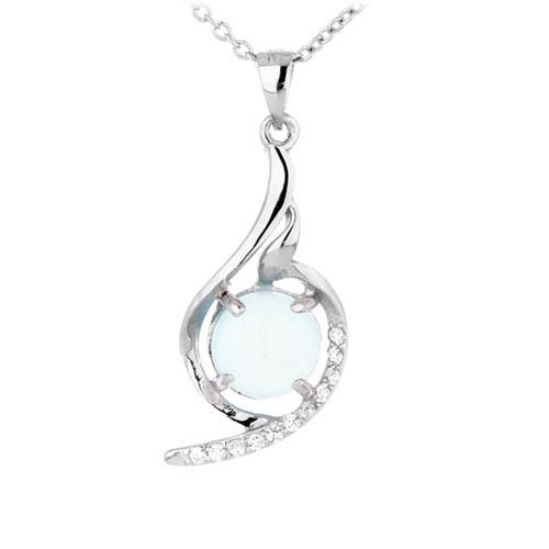 pendentif femme argent zirconium diamant 8300349