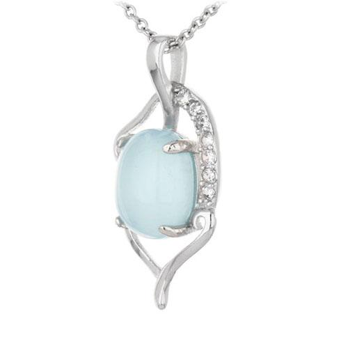 pendentif femme argent zirconium diamant 8300351 pic2