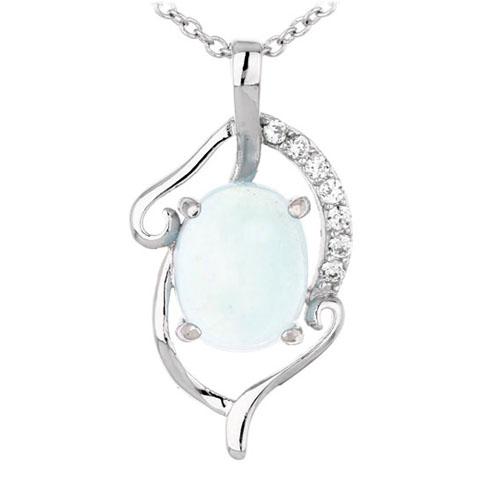 pendentif femme argent zirconium diamant 8300351