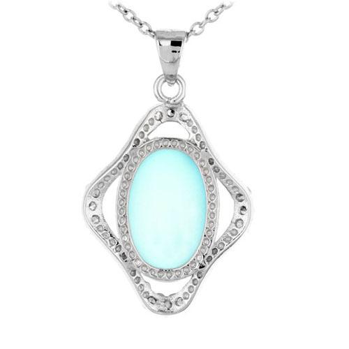 pendentif femme argent zirconium diamant 8300352 pic3