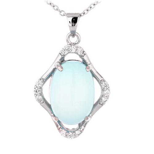 pendentif femme argent zirconium diamant 8300352