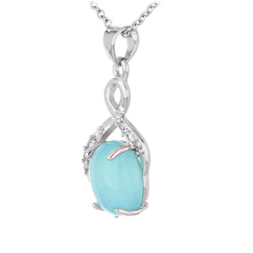 pendentif femme argent zirconium diamant 8300354 pic2