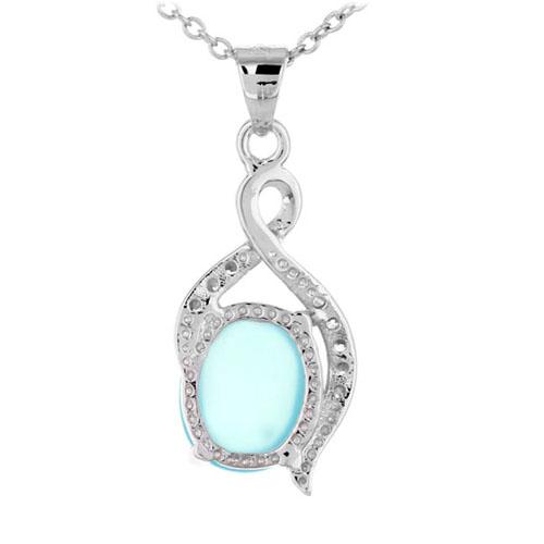 pendentif femme argent zirconium diamant 8300354 pic3