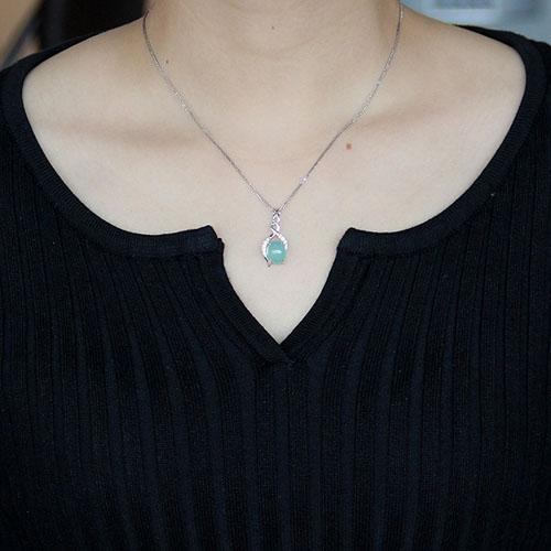 pendentif femme argent zirconium diamant 8300354 pic4