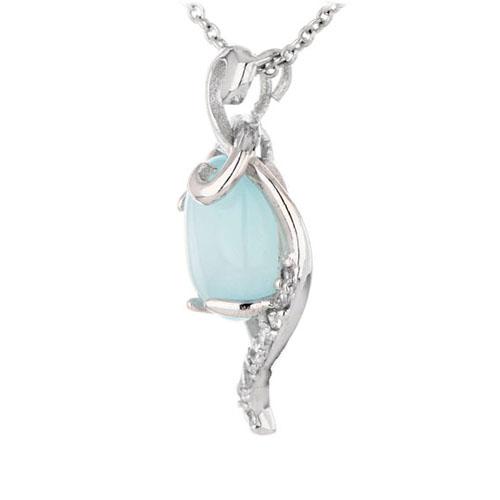 pendentif femme argent zirconium diamant 8300355 pic2