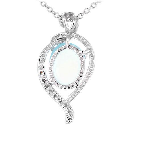 pendentif femme argent zirconium diamant 8300355 pic3