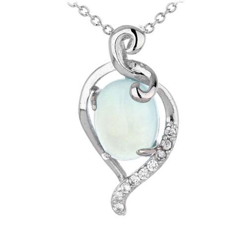 pendentif femme argent zirconium diamant 8300355