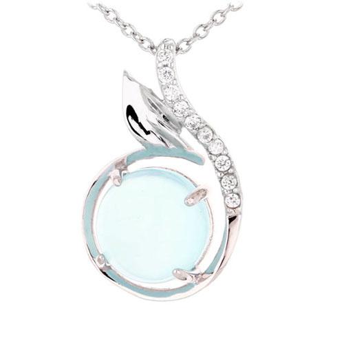 pendentif femme argent zirconium diamant 8300356
