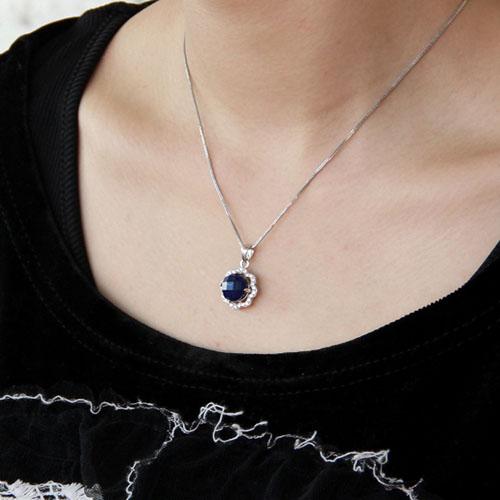 pendentif femme argent zirconium diamant 8300373 pic5