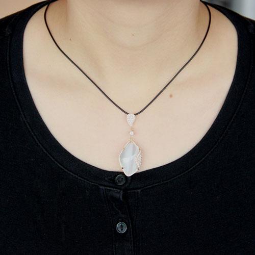 pendentif femme argent zirconium diamant 8300397 pic4