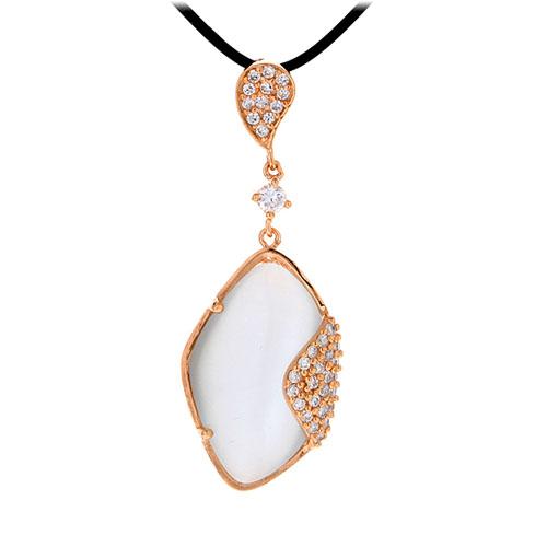 pendentif femme argent zirconium diamant 8300397
