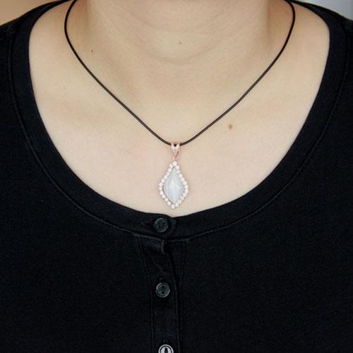 pendentif femme argent zirconium diamant 8300398 pic4