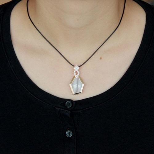 pendentif femme argent zirconium diamant 8300399 pic4