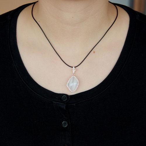 pendentif femme argent zirconium diamant 8300401 pic4
