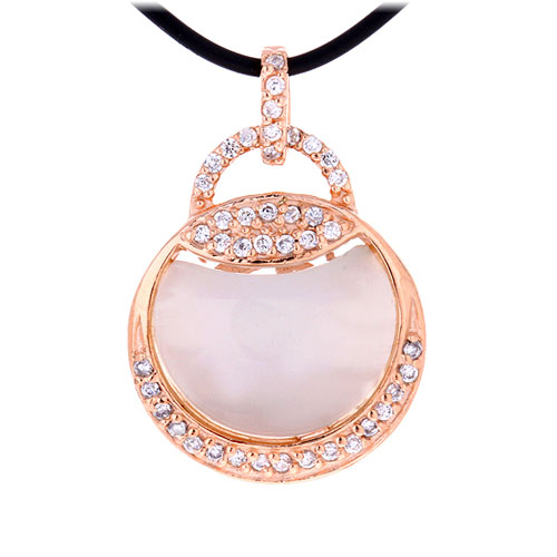 pendentif femme argent zirconium diamant 8300405