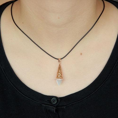 pendentif femme argent zirconium diamant 8300409 pic4