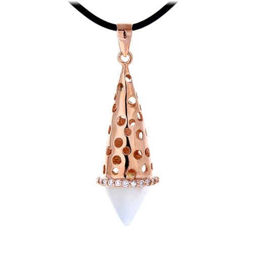 pendentif femme argent zirconium diamant 8300409
