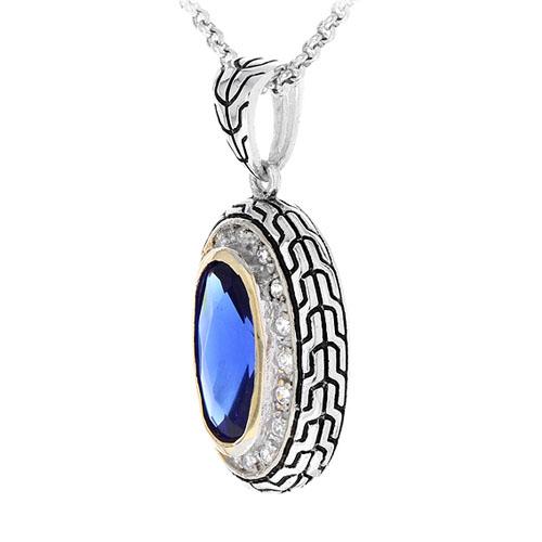 pendentif femme argent zirconium diamant 8300410 pic2