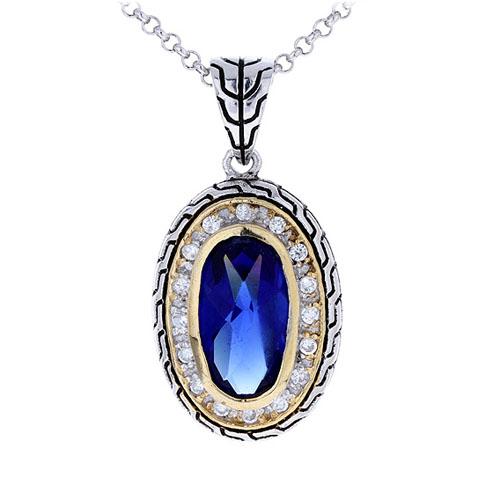 pendentif femme argent zirconium diamant 8300410