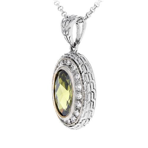 pendentif femme argent zirconium diamant 8300411 pic2