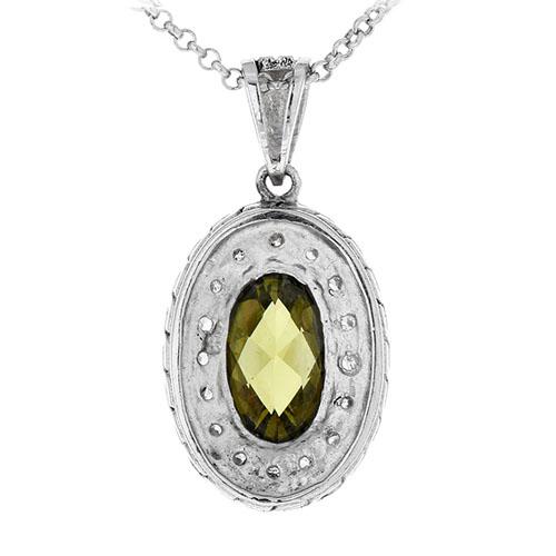 pendentif femme argent zirconium diamant 8300411 pic3