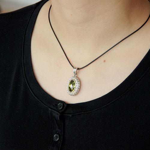 pendentif femme argent zirconium diamant 8300411 pic5
