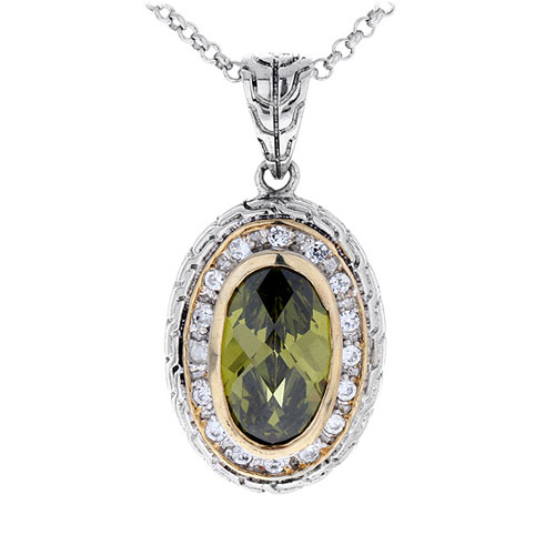 pendentif femme argent zirconium diamant 8300411
