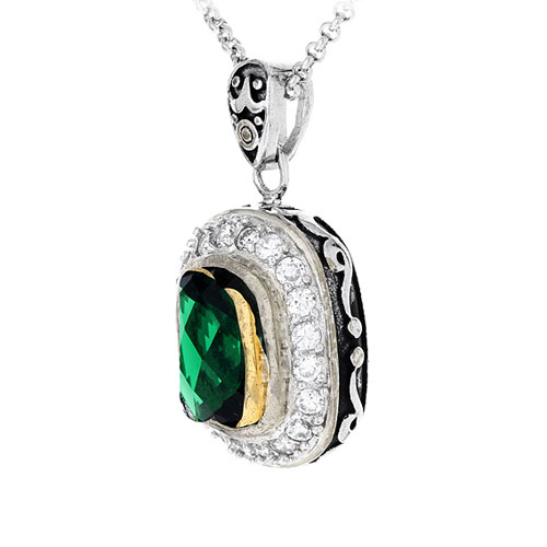 pendentif femme argent zirconium diamant 8300412 pic2