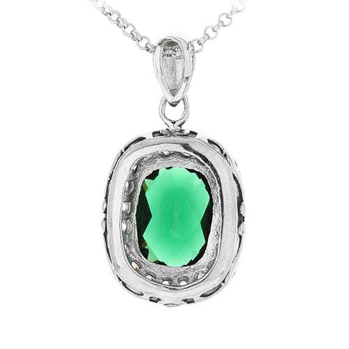pendentif femme argent zirconium diamant 8300412 pic3