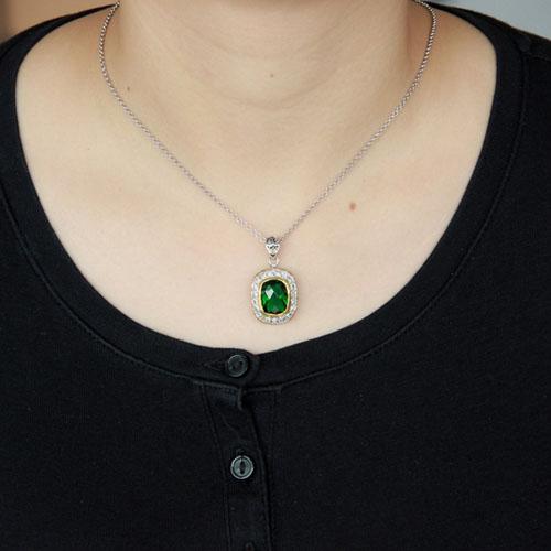 pendentif femme argent zirconium diamant 8300412 pic4