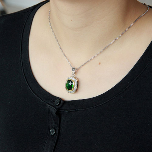 pendentif femme argent zirconium diamant 8300412 pic5