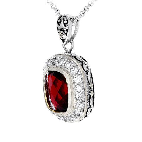 pendentif femme argent zirconium diamant 8300413 pic2