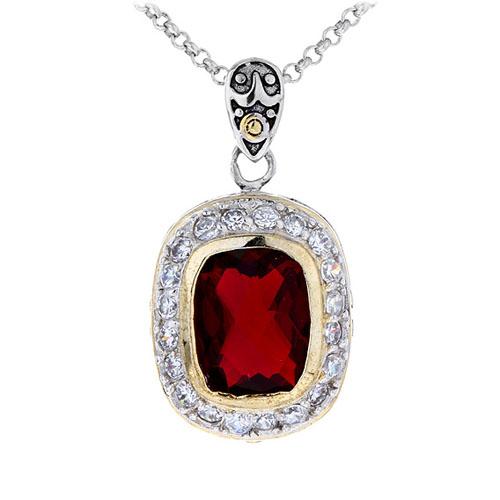 pendentif femme argent zirconium diamant 8300413