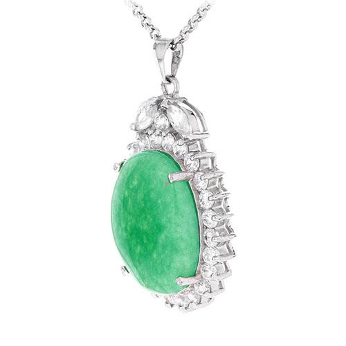 pendentif femme argent zirconium jade 8300433 pic2