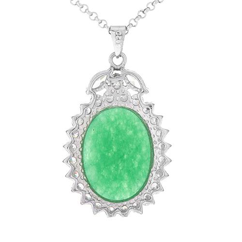 pendentif femme argent zirconium jade 8300433 pic3