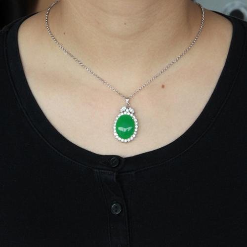 pendentif femme argent zirconium jade 8300433 pic4