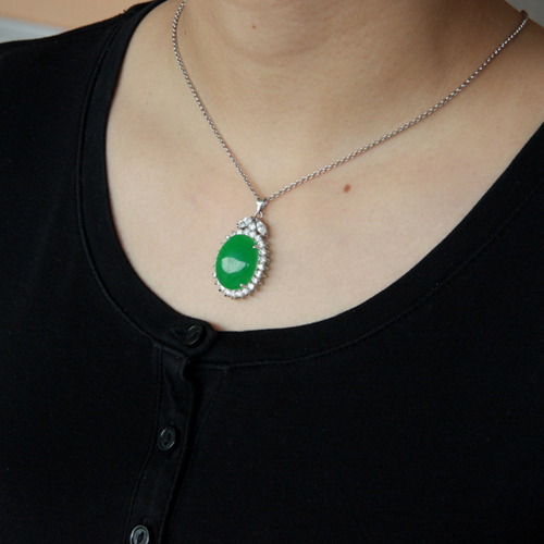 pendentif femme argent zirconium jade 8300433 pic5